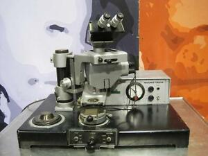 Microtech W Bausch Lomb Stereo Microscope Head Engineering Lab Cascade