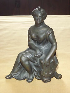 Vintage Art 6 Metal Women Statue