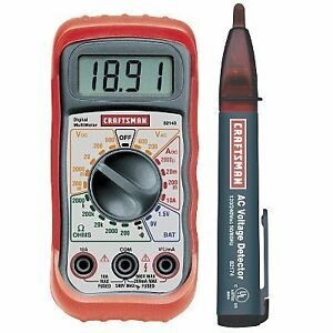 New Craftsman Digital Multimeter With Ac Voltage Detector Free Shipping