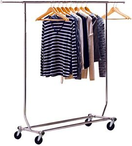 New Decobros Supreme Commercial Grade Clothing Garment Rack Chrome Mobile 2013