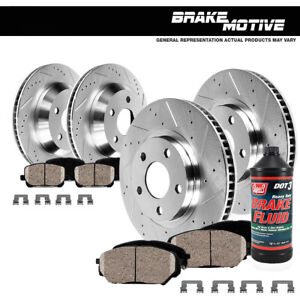 Front Rear Drill Slot Brake Rotors And Ceramic Pads Fit Fx35 Fx45 Nissan Murano