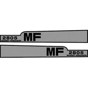 Mf2805 Massey Ferguson Tractor Hood Decal 2805