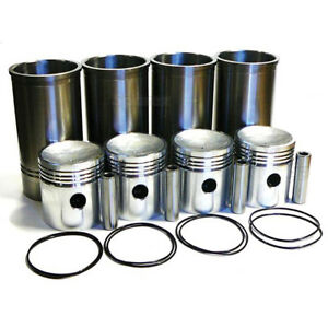 70207435 New Set Of 4 Piston Liner For Allis Chalmers Tractor 170 D17 Wd45