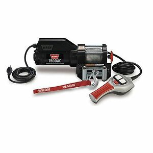Warn 85330 1500ac Portable Utility Winch 0 8 Hp With 43ft Cable