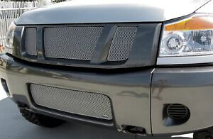 Grillcraft Nis1551s Silver Mx Grille Lower Insert For Nissan Titan Armada