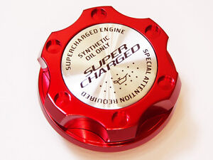 Fits For Dodge Charger Challenger V8 Supercharged Hemi Engine Oil Cap Red