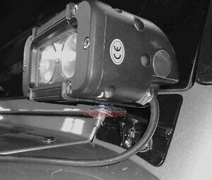 Lower Windshield Mount With Led Light For Jeep Wrangler Jk 07 18 Steinjager