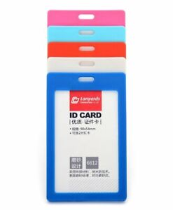 Colour Frame Id Badge Vertical Card Rigid Plastic Pvc Pass Holders 11