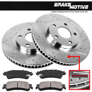 Front Drill Slot Brake Rotors ceramic Pads Kit Chevy Impala Monte Carlo Lucerne