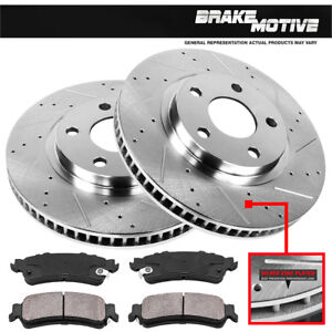 Front Drill Slot Brake Rotors ceramic For Chevy Impala Monte Carlo Lucerne