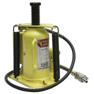 Yellow Jackit 20 Ton Air Hydraulic Bottle Jack Esc10446 Brand New