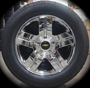 New Chevy Silverado Tahoe Suburban Avalanche Chrome Texas 20 Wheels Rims Tires