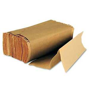 Boardwalk Multifold Folding Kraft Brown Paper Towels Bathroom Dispenser 4000 Ct