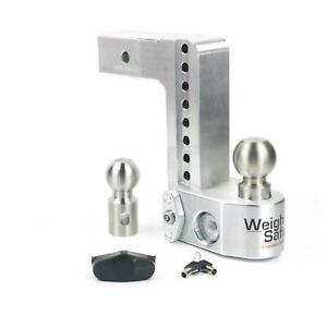 Weigh Safe Ws8 2 5 Adjustable 8 Drop Hitch Ball Mount W Tongue Weight Scale