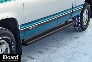 4 Iboard Running Boards Nerf Bars 88 98 Chevy gmc C k Pickup 2dr Extended Cab