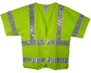 Class Three Ansi 2010 Sleeved Lime Safety Vests Size 4x