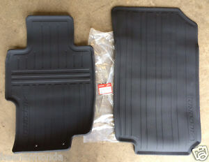 Genuine Oem Honda Accord Black Front All Season Floor Mat Set 2003 2007 Mats