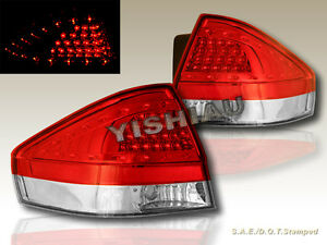 2008 2011 Ford Focus Led Red Clear Tail Lights 2 4 Door