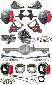 New 2 Drop Suspension Wilwood Brake Set currie Rear End arms posi Gear 596424