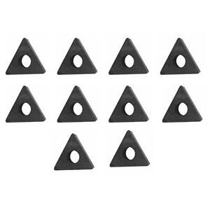 Specialty Products 80210 Set Of 10 Negative Rake Carbide Bits For Kwik Way Lathe