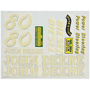 New Complete Decal Set Made For John Deere Tractor 80