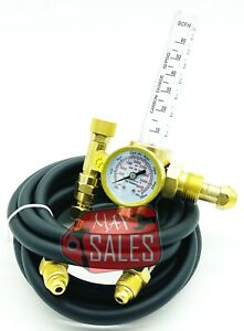 New Argon Co2 Mig Tig Flow Meter Regulator W Hose 4 Gas Welding Weld Machine