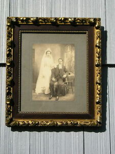 Rare Antique Aesthetic Eastlake Victorian Ornate Picture Frame Wedding Pic 10 12