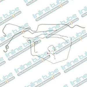 1969 Chevrolet Camaro Complete Power Disc Brake Line Set Kit Tubes 2pc F To R Oe