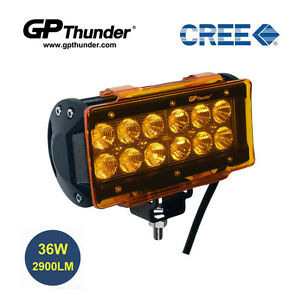 6 5 Inch Off Road 36w Cree Led Fog Lamp Work Light Bar Suv Jeep Drl Cover Amber