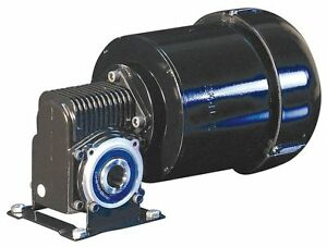 Dayton 3 Phase Hollow Shaft Right Angel Gear Motor 1 4 Hp 28 Rpm 230v 6vep8