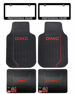 New Gmc Factory Style Logo Car Truck Front Rear Rubber Floor Mats Made In U S A