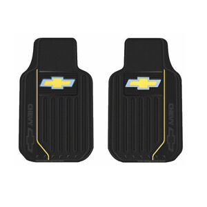 New Chevy Elite Style Logo Car Truck 2 Front Heavy Duty Rubber Floor Mats