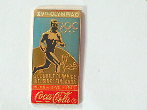Coca Cola Pin Badge 1952 Historical collector Finland Olympic Games  Pin  (* #6)