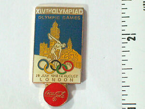 Coca Cola Pin Badge 1956 Historical collector  London Olympic Games Pin