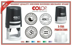 Colop Custom Made Self Inking Rubber Stamp 40x40mm Round Logo Business Quality