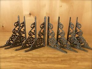 8 Brown Antique Style 6 5 Shelf Brackets Cast Iron Rustic Garden Decorative