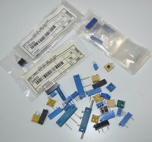Large Lot Of Bourns Spectrol Electrim Trimpot Trimmer Potentiometers