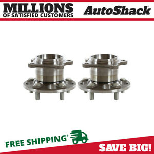 Rear Pair 2 Wheel Hub Bearing Assemblies 5 Stud Fits 2004 2013 Toyota Highlander