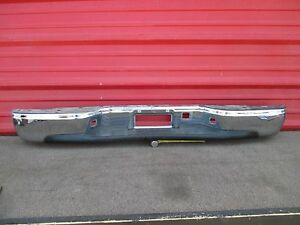 00 01 02 03 04 05 06 Chevy Silverado Rear Chrome Bumper Oem