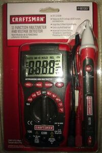 Craftsman 11 Function Auto Range Digital Multi Meter And Ac Voltage Detector