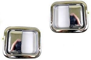 For Jeep Outside Exterior Door Handle Full Door Only Left Right Set Chrome