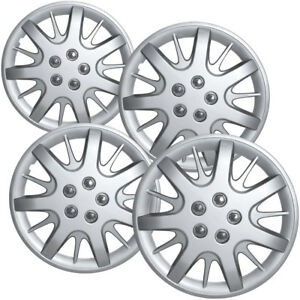 4 Pc Hubcaps Fits Chevy Impala 16 Silver Snap On Replacement Wheel Rim Skin