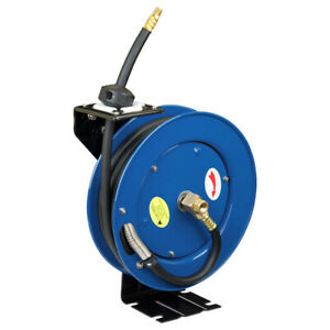 Cyclone Pneumatic 3 8 X 25 300 Psi Retractable Air Hose Reel W Rubber Hose