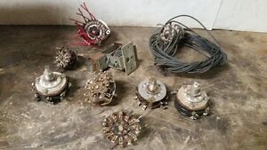Lot Of Vintage Rotary Switches Various Shapes And Sizes