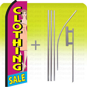 Clothing Sale Swooper Flag Kit Feather Flutter Banner Sign 15 Set Pz