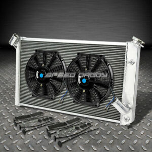3 Row Core Aluminum Racing Radiator 2x 12 Fans 73 76 Chevy Corvette V8 5 7 7 4