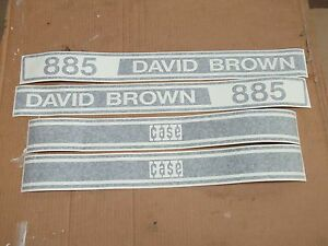 Case David Brown 885 Tractor Decals Hood Only Vinyl See Details Pictures