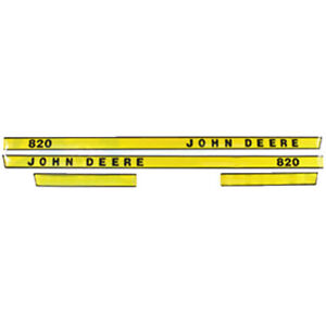 Jd80l New Hood Decal Made For John Deere 3 Cylinder Tractor 820