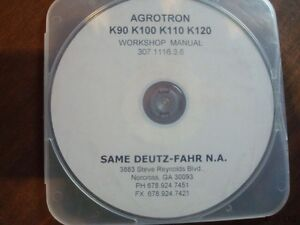 Same Deutz Fahr Agrotron K90 K100 K110 K120 Tractor On Cd Workshop Manual Cf292