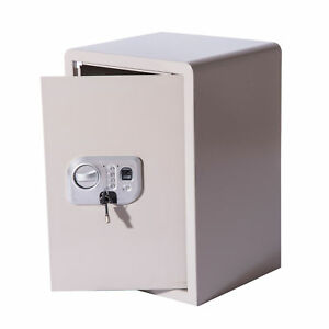 Homcom 20 Biometric Large Fingerprint Electronic Gun Safe Box Lock Security